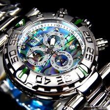 Invicta Reserve Subaqua Noma I SAN 1 Abalone Steel Chronograph Diamond Watch New