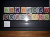 Germany West 1951 Posthorn 'full set' Michel 123-138, used.