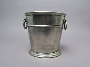 Sektkühler Etain Pewter Zinn ca. 1,5 kg x ca 21,9 cm H oval