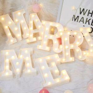 Alphabet LED Letter Lights Light Up Plastic English Letters Standing Hanging