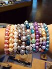Honora Cultured Freshwater Pearl Elastic Strand Bracelets in Variety of Colors