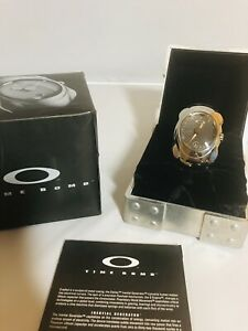 New Oakley Timebomb Mens Watch Hand Polished Titanium Band W/ Carbon Fiber Dial