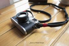 Handmade Real Leather camera strap neck strap for film camera EVIL camera 01-073