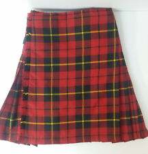 Wallace Modern Red  8 Yard  wool KILT EX HIRE £99 A1 CONDITION