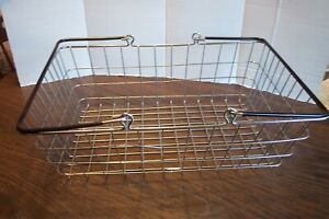 """Large Stainless Steel Carry Shop Basket w/ Vinyl Coated Handles 19"""" x 13"""" x 6"""""""