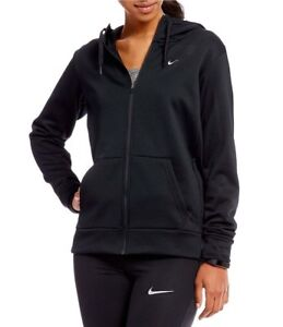 NWT NIKE WOMEN'S TEAM CLUB FULL ZIP FLEECE HOODIE (BLACK) LARGE 342588-011. $45