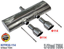 Exhaust Muffler for VW GOLF 5 6 to give an R32 R20 look with 114mm tips