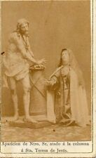 ANTIQUE RELIGIOUS CARD APPEARANCE JESUS TIED IN THE PILLAR ST THERESE