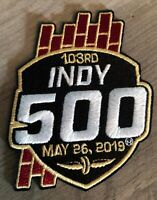 INDY 500 Patch MAY 26 2019 Official Embroidered NASCAR Brick Yard Racing Iron On