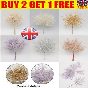 SET Bundle Artificial Flower Pine Leaves Branch Plant Grass Xmas Wreath Decor UK