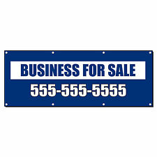 BUSINESS FOR SALE CUSTOM PHONE Banner Sign 4 ft x 2 ft /w 4 Grommets
