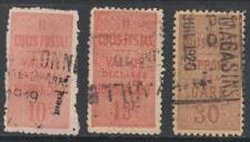 France Parcel Post Colis Postal Scott #Q5 #Q22 #Q24 used 1892//1922 cv $41.50