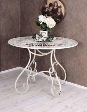 Eisentisch Weiss Küchentisch Metalltisch Gartentisch Terrassentisch runder Tisch
