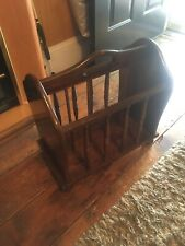 Vintage Solid Wood Magazine Rack Spindles