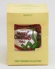 Muppets Merry Christmas 1980 Hallmark Unbreakable Satin Tree Ornament, Kermit