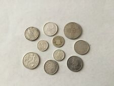 Lot de 10 pièces en argent du monde