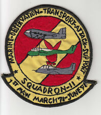 Wartime Marine Squadron 11 Patch / Aviation Insignia