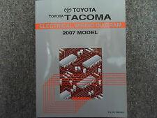 2007 Toyota Tacoma Electrical Wiring Diagram Service Shop Manual EWD FACTORY