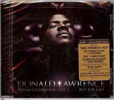 DONALD LAWRENCE  20 Year Celebration Vol 1 - Best For Last  New Sealed Gospel CD