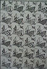 Vintage Quilt Quilting Sewing Fabric Pattern SunBonnet Sue w Dove Applique 1940s