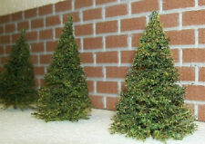 MINIATURE PINE TREES 9 piece set  // Great for HO scale model railroads, crafts