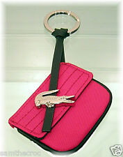 New Authentic LACOSTE KEYRING KEY FOB Bag Charm Croco Lite L22.2 Rose Pink