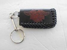 Harley Davidson Keyring Genuine Leather Pre-Owned Eagle Barnever Used Hd-W