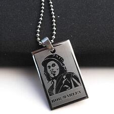 Fashion Hip-Hop Style Necklace Pendants For Men Boys Figure BOB MARLEY Jewelry