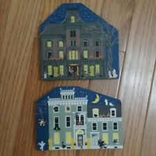 Vtg 1997 The Cat's Meow Village Halloween Release Mystery Manor Eerie Estate