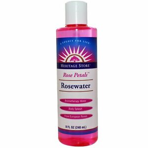 Heritage Store, (3 Pack) Rosewater, Aromatherapy Water, Rose Petals, 8 fl oz