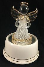 San Fransisco Music Box Co Spun Glass Angel W/ Doves Figurine