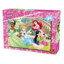 KING  puzzle 24 pièces DISNEY Princesses Ariel Tiana Mulan Cendrillon - 3+ NEUF