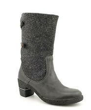 Groundhog Morley Womens 9.5 Basic Textile Boots Black Mid Calf Pull On