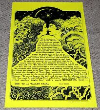 THE ODE To A Fallen Star The Moon 1972 Blacklight Poster Pro Arts Hippie Love