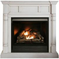 Duluth Forge FDI32R-M-AW Full Size Dual Fuel Ventless Fireplace - 32,000 BTU