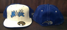 Orlando Magic New Era 59FIFTY Fitted Hat NBA Retro Throwback Blue/White Sz 7 5/8
