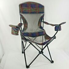 Boy Scouts of America Camp Chair Mesh Folding Beach Camping Metal Legs CarryCase