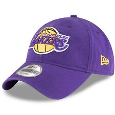Los Angeles Lakers New Era 9Twenty Cotton Adjustable Strap Purple Hat Dad Cap