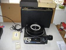 Kodak Carousel 5400, 35mm Slide Projector, lens, hard carry case, PAVCO remote
