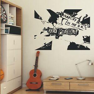 Sex Pistols Anarchy in The UK Wall Sticker Cut Matt Vinyl Decal Sid Vicious