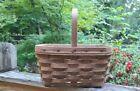 Vintage Longaberger 1984 Spring Basket Dark Stain Great Easter Basket