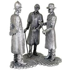 Sherlock Holmes, Dr. Watson and Inspektor. Tin toy soldiers miniature statue