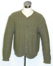 "LODEN BOILED WOOL Winter SWEATER Jacket LONG SLEEVES Cardigan Men WARM 46"" Large"