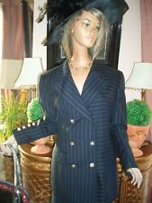 LUXUS ESCADA COUTURE BUSINESS jacket Blazer SUIT schwarz gold 40/42 NP1120