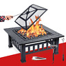 Garten Feuerschale Feuerkorb Schwarz Funkenschutz Feuerstelle Outdoor Lagerfeuer