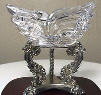Vintage Mikasa Elegant Crystal Swan Lidded Trinket Dish Germany Flawless MINT