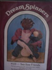 """Doll Pattern """"Dream Spinners"""" #123 See-Saw Friends Topsy-Turvy Doll Clothes Baby"""