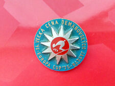 FIS European championships EUROPA CUP 1975 CSSR large badge ski race downhill GS