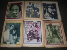 1970-1971 ROLLING STONE MAGAZINE LOT OF 10 - GREAT COVERS & PHOTOS - PB 268
