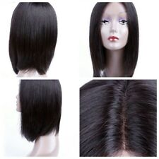12 inch pre plucked lace front human hair wigs .peruvian remy hair